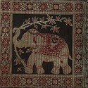 Elephant Black Table Runner Centerpiece