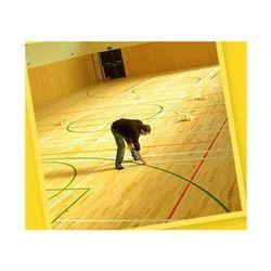Wooden Indoor Sports Flooring Installation Service