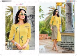 Rachna Cotton Flex Delicated Embroidery Work Koutons Catalog Kurti For Women 2