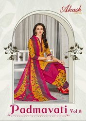 Akash Creation Padmavati Vol-8 Printed Cotton Dress Material Catalog Collection