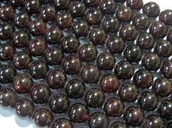 Natural Garnet Round 10mm Stone Bead Strands