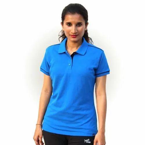 Blue Fyter Women Polo T Shirt