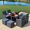 Garden Rattan PVC Furniture Set