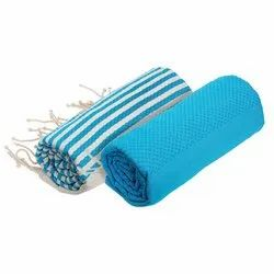 Cotton Bamboo Sea Blue Towels