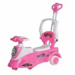 1 Pink And White Kids Caliber Car