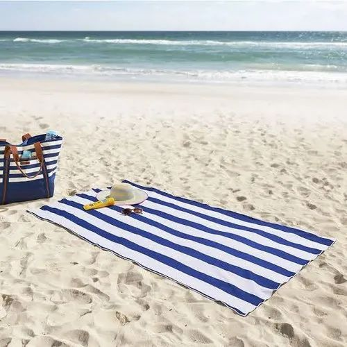 Cotton Striped Beach Towel, Size: 27 X 54 Cm, Rs 176 /piece Aryan Traders |  ID: 17532427262
