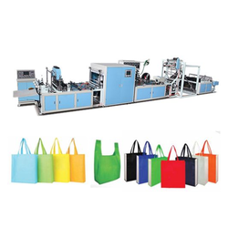 Ultrasonic Non Woven Box Bag Making Machine with Online Loop Handle