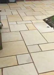 Polished Mint Multi Flooring Sandstone Floor Tiles, 12 x 6 Inch