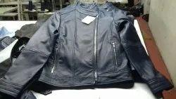 Full Sleeve Casual Wear Mens Black Leather Jacket