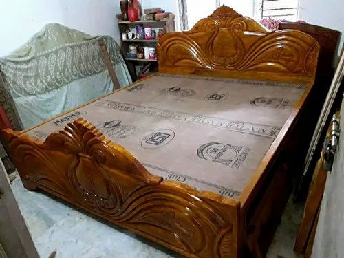 Solid Wooden Design Box Bed