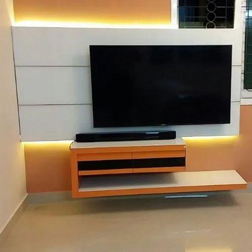 Modern Wall Mounted Designer Tv Unit Rs 850 Square Feet Unicc Interiors Id 20722153955