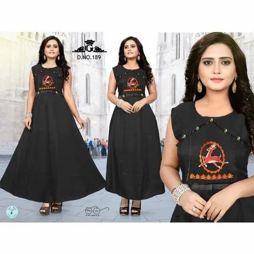 Rayon And Also Available In Cotton Ladies Fancy Rayon Kurti