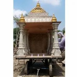 Decorative frp Temples rath for shobha yatra