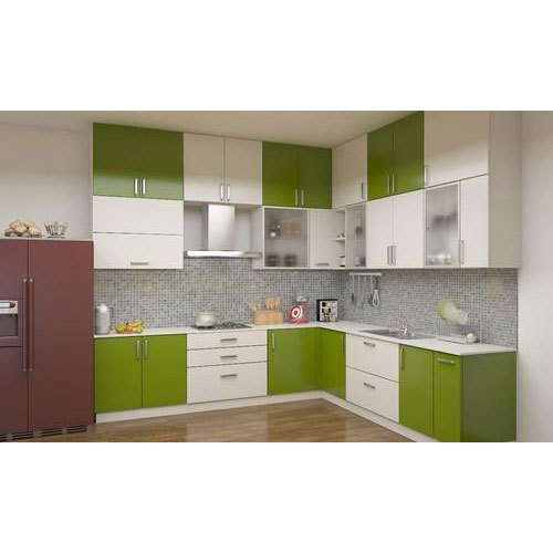 Plywood Home Modular Kitchen Cabinet
