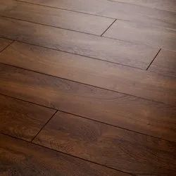 Brown Teak Wood Greenply Hardwood Flooring, For Indoor, Surface Finish: Glossy