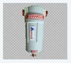 White Mild Steel Moisture Separators, Capacity: 100 CFM to 1000 CFM
