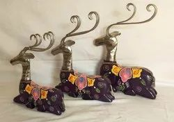 Iron Wooden Siting Deer