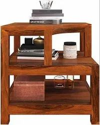 Brown Modern Wooden Bed Side Table, For Home, Number Of Drawer: None