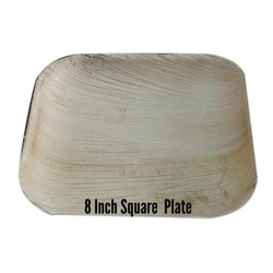 Areca Leaf 8 Inches Disposable Square Plate