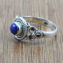 925 STERLING SILVER FANCY JEWELRY LAPIS LAZULI GEMSTONE RING WR-5025