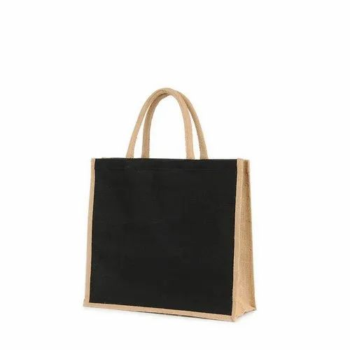 Black,Brown Plain Black Juco Promotional Bag