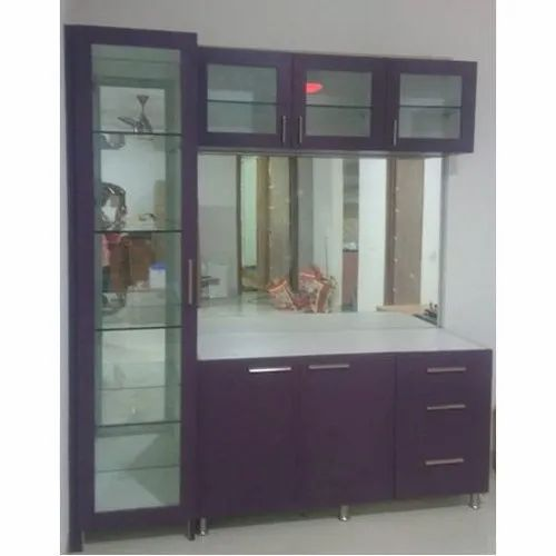 Wooden And Glass Kitchen Crockery Unit For Home Rs 9000 Unit Wings Dectors Id 21228725348