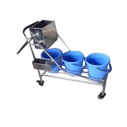 SS Mopping Trolley with Plastic Bucket
