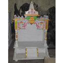 60 Inch White Marble Mandir For Home