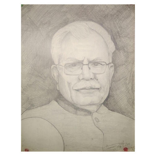 Portrait pencil sketch