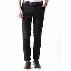 Plain Black Formal Men Trouser