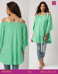 Indusdiva Medium and Large Ladies Blouses & Tops Loose Off Shoulder