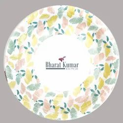 100% Food Grade Certified Printed Paper Plate Circle