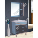 Dark Grey PVC Bathroom Vanities