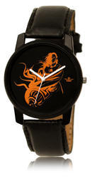 Men Black Hanuman Wrist Watches LD09