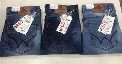 Denim Faded Mens Wrangler Jeans, Waist Size: 32
