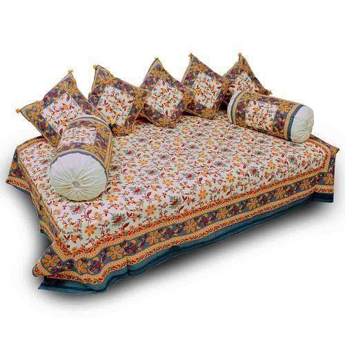 Jaipuri Fancy 8 Piece Block Print Diwan Bed Spread 353