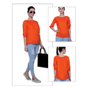 Rayon Orange Top