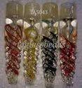 Spiral Design One Hitter Glass Smoking Pipe