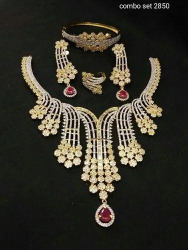 Bridal Accessories The Best 81b 3pc Bridal Silver Plt White Pearl Crystal Rhinestone Necklace Bracelet Set Large Assortment