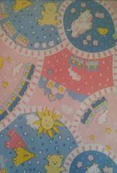 Pink And Blue WSI Bottle Cover PVC Baby Prints Nursery