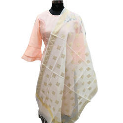 Designer Banarasi Dyeable Dupatta