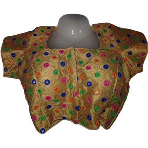 34 And 38 Silk Multi Colored Printed Blouse