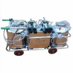 Double Cluster Motorized Milking Machine