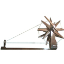 Brown Antique Handicraft Wooden Charkha, For Home