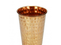 Hummer Touched Pure Copper Ayurveda 1 Pcs Glass Cup