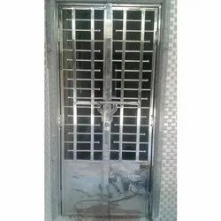 Ss304 Polished Stainless Steel Hinged Door