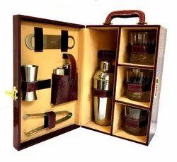 Wooden Travel  Cocktail Bar Set (00cb)