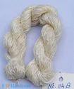 White Fine Thrown Hand Spun Silk Yarn, For Hand Knitting, Crocheting
