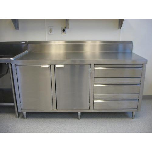 Stainless Steel Modular Kitchen Cabinets: Stainless Steel Kitchen Cabinet At Rs 58000 /piece