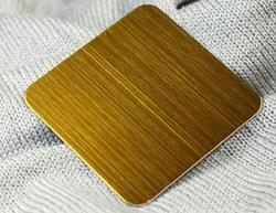 Gold Hariline Stainless Steel Sheet